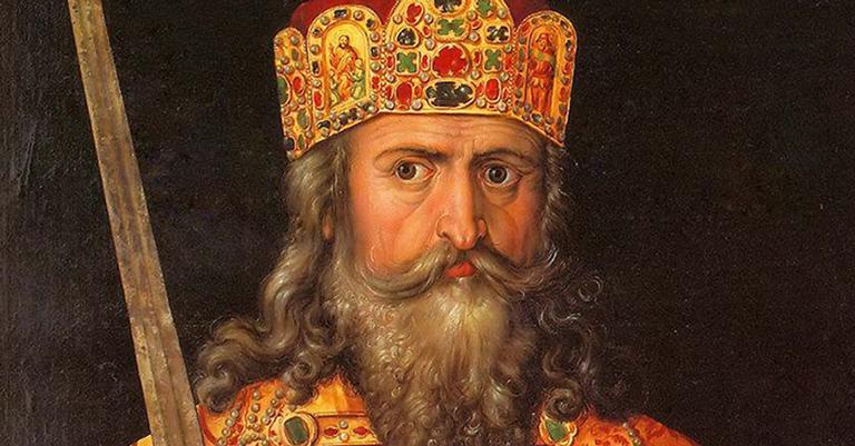 Carlos Magno se impôs pelo poder de seus exércitos e pela força de sua fé