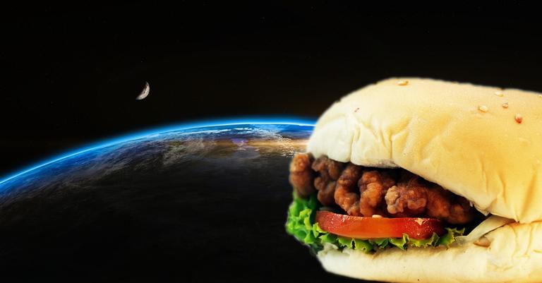 O sanduíche foi a primeira comida não espacial a ser levada para fora da Terra