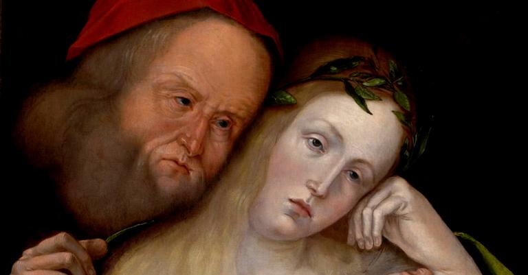 Homem velho e mulher jovem, quadro de 1503