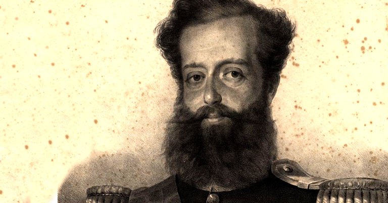 Dom Pedro como Pedro IV de Portugal, em 1833