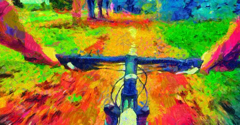 Visão em primeira pessoa do Dia da Bicicleta