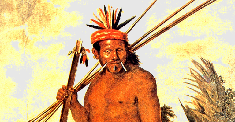 Índio tapuia retratado no século 17