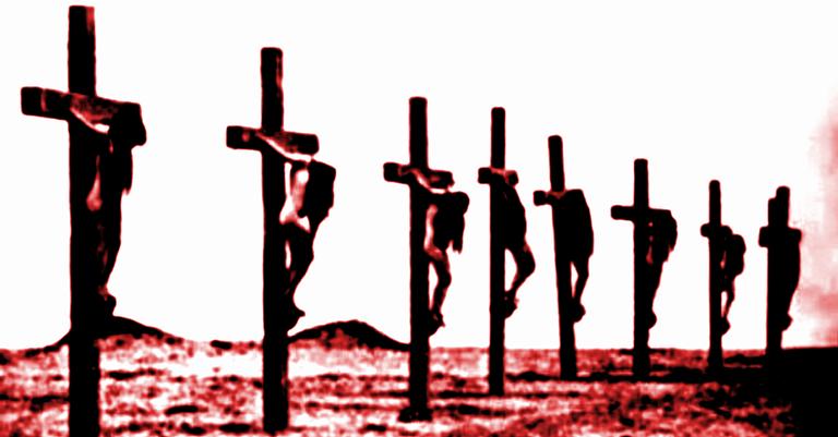 Jovens armênias crucificadas pelos turcos