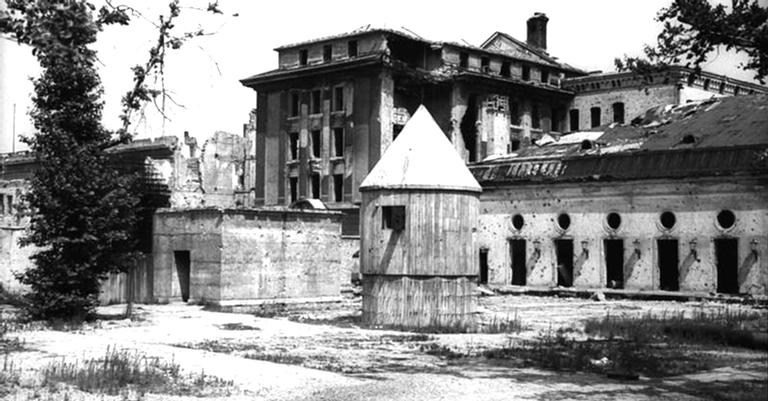 A entrada do bunker