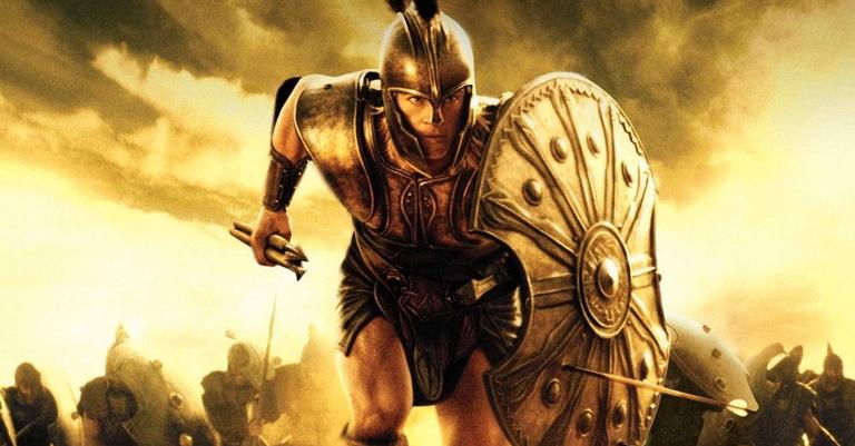 Cena do filme Troia, livremente baseado em Ilíada