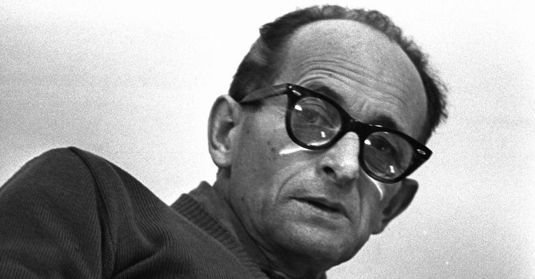 Eichmann na prisão em Israel, em 1961