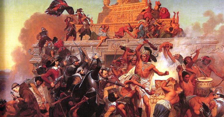Os astecas foram dizimados dois anos depois da chegada dos europeus