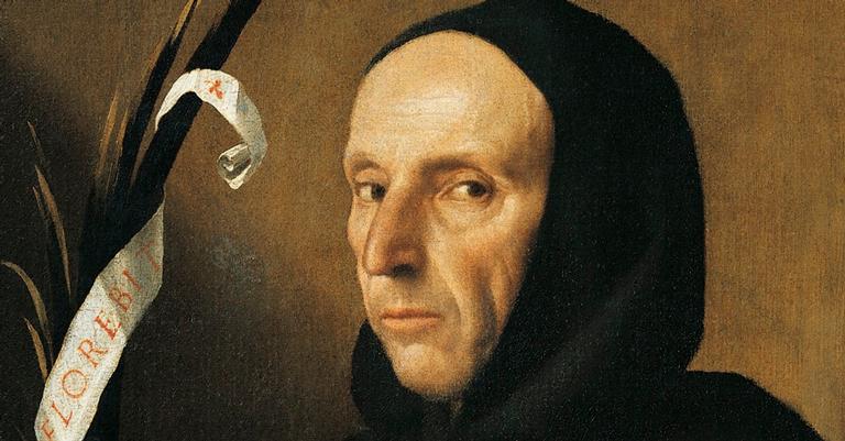 Savonarola, por Moretto da Brescia, 1524
