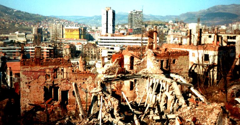 Destruição em Sarajevo