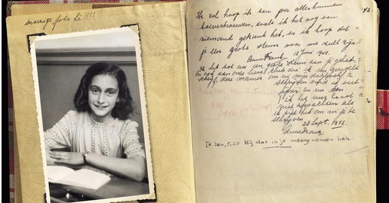 Primeira página do diário de Anne Frank