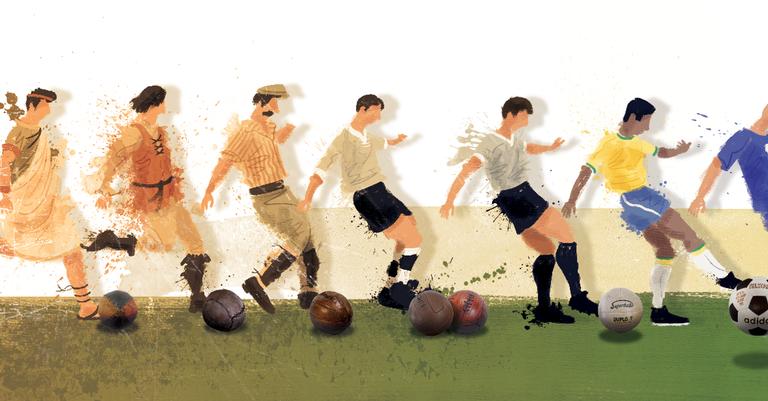 A evolução da bola de futebol  ee1994cfe0e7c