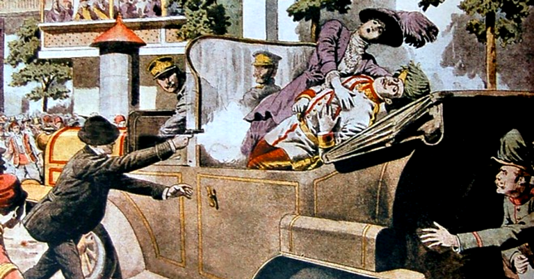 O assassinato de Franz Ferdinand, arquiduque da Áustria