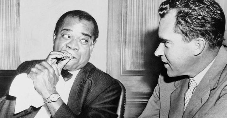 Nixon e Armstrong se encontraram em 1958, no Aeroporto Internacional John F. Kennedy