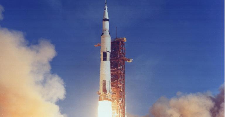 Lançamento da Apollo 11, em 16 de julho de 1969