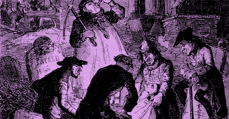 Representação de um roubo de cadáveres