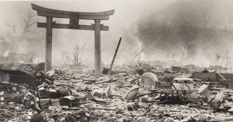 A destruição em Nagasaki