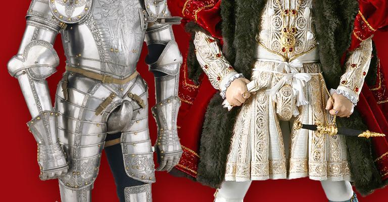 Codpiece: detalhes estava presente no vestuário cotidiano masculino e em armaduras