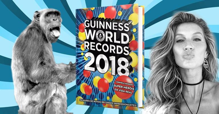 Livros dos recordes celebra 63 anos. Macaco Tião e Gisele Bündchen foram destaques ao longo dos últimos anos