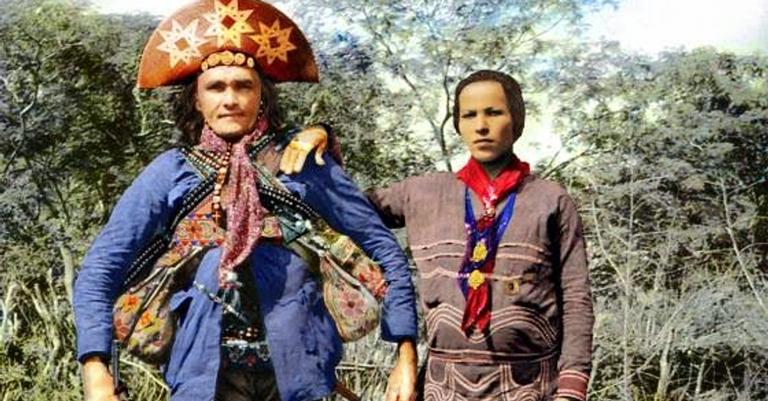 Fotografia colorizada de Dadá e Corisco