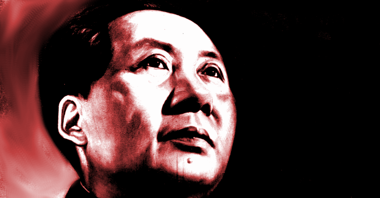 Montagem sobre imagem de propaganda chinesa