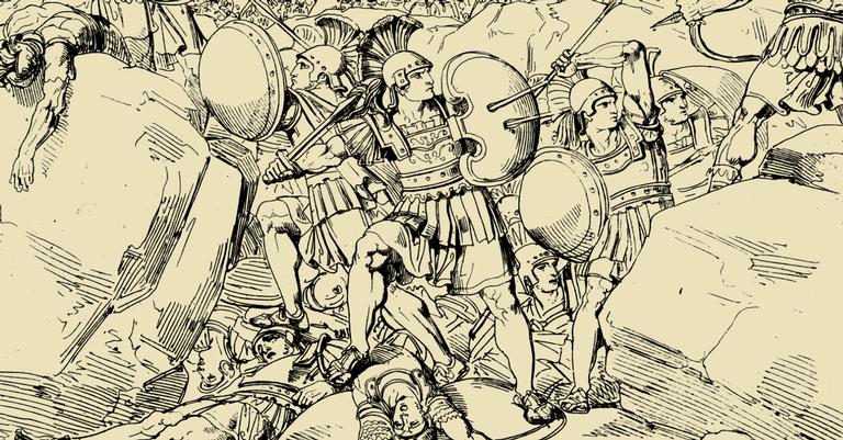Ilustração da Batalha das Termópilas