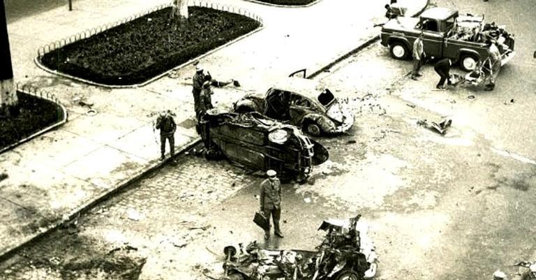 Explosão em frente à sede do Dops, 1968