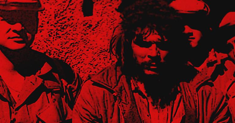 Ilustração sobre foto de Che em seus últimos momentos