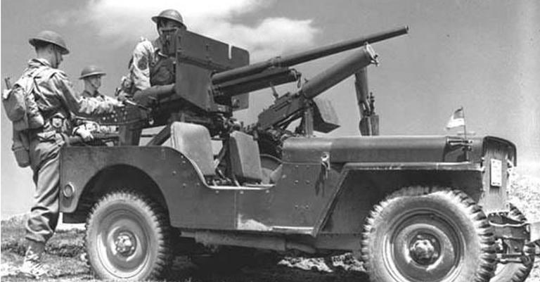 Jeep utilizado em 1942, durante a Segunda Guerra Mundial