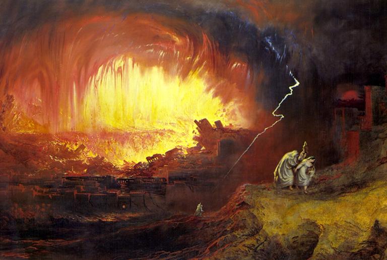 A Destruição de Sodoma e Gomorra, John Martin, 1832