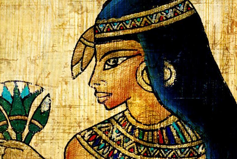 Detalhe de mural funerário egípcio
