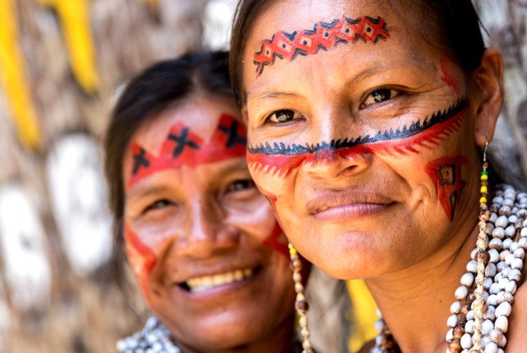 Retrato de indígenas brasileiros