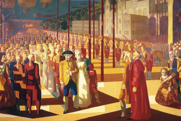 Chegada de D. João VI a Salvador, de Candido Portinari