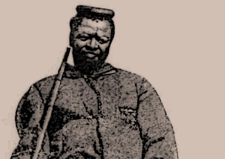 Ilustração de Ngungunhane, imperador do Reino de Gaza
