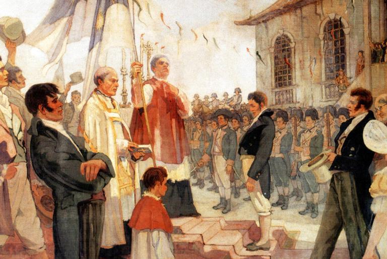 Bênção das Bandeiras da Revolução de 1817, de Antônio Parreiras