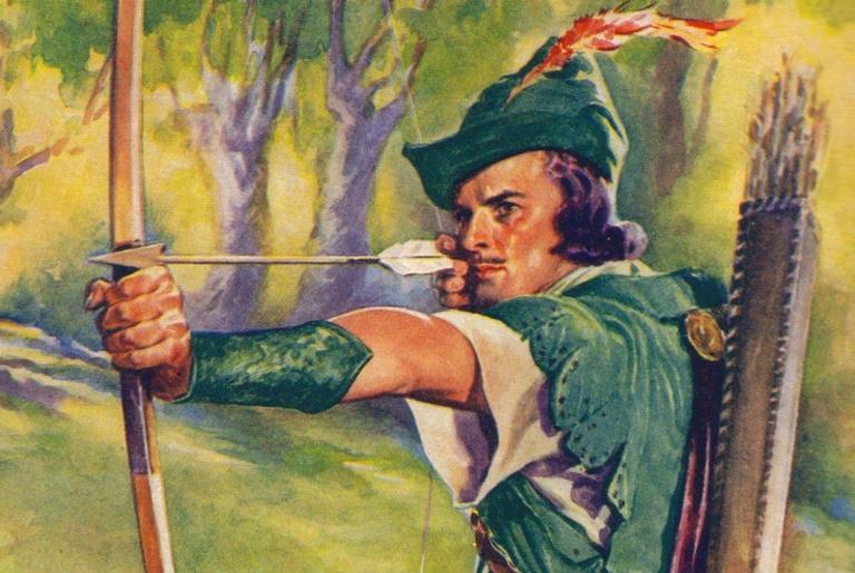 Uma das representações de Robin Hood