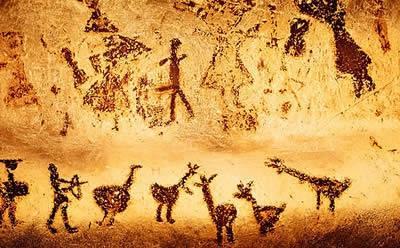 Na caverna de Lascaux