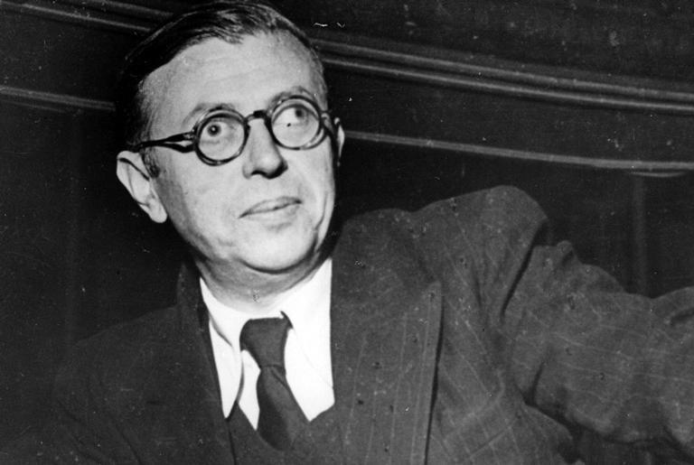 O filosofo Jean-Paul Sartre