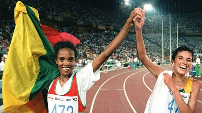 Derartu Tulu e Elana Meyer