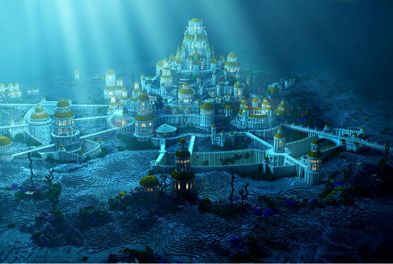 Como seria a suposta cidade de Atlântida