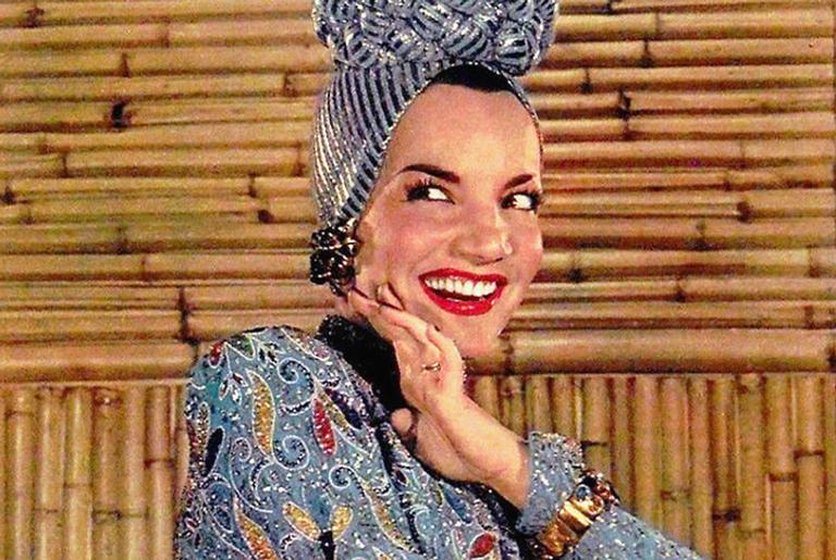 A atriz e cantora Carmen Miranda