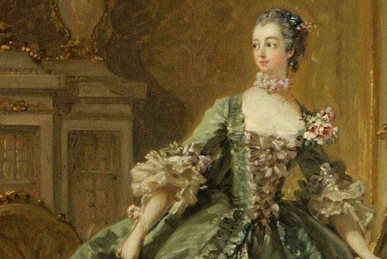 Retrato da Madame de Pompadour, por François Boucher