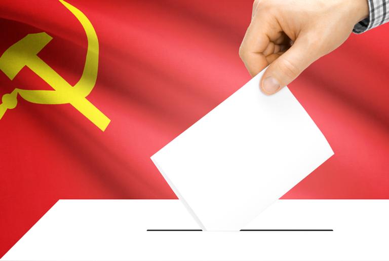 A maioria desses países têm eleições controladas pelos partidos comunistas
