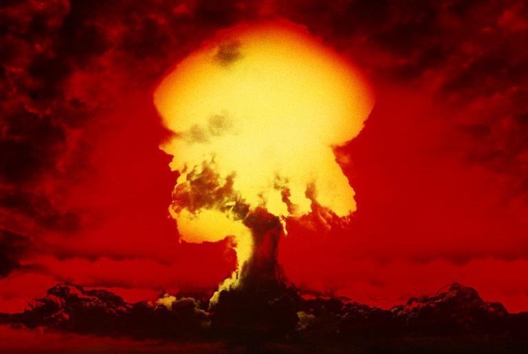 Ilustração de um teste nuclear