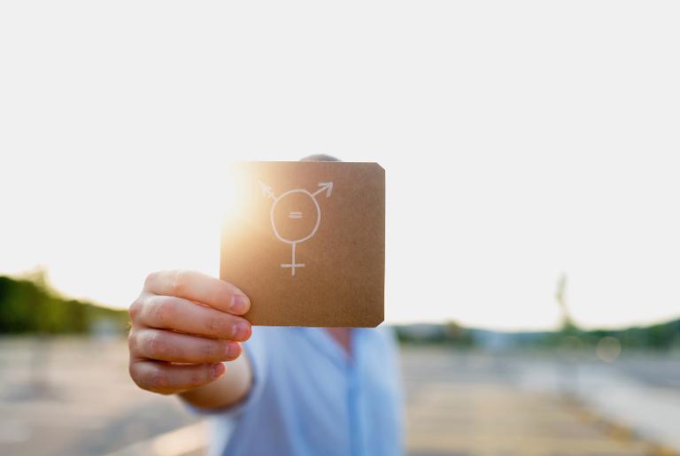 Símbolo da igualdade transgênera