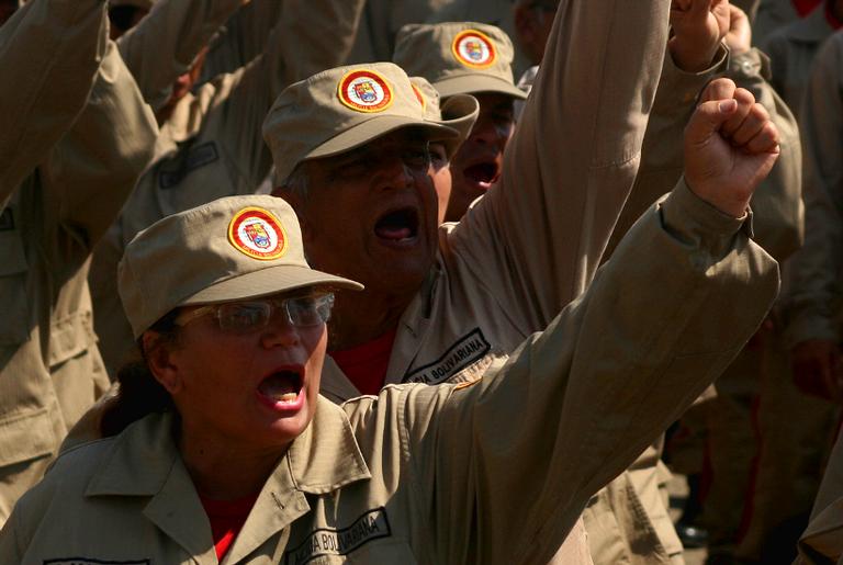 Mobilização de milícias, militares e indígenas em Macaraibo, 17 de dezembro de 2018