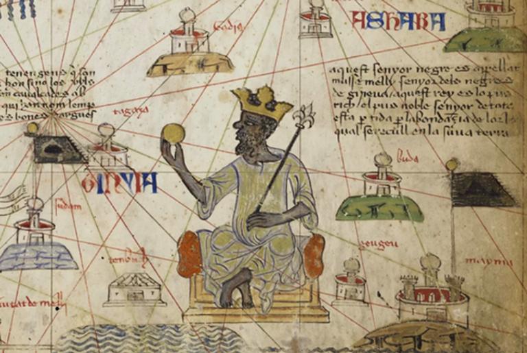 Detalhe do Atlas que mostra o homem mais rico já conhecido
