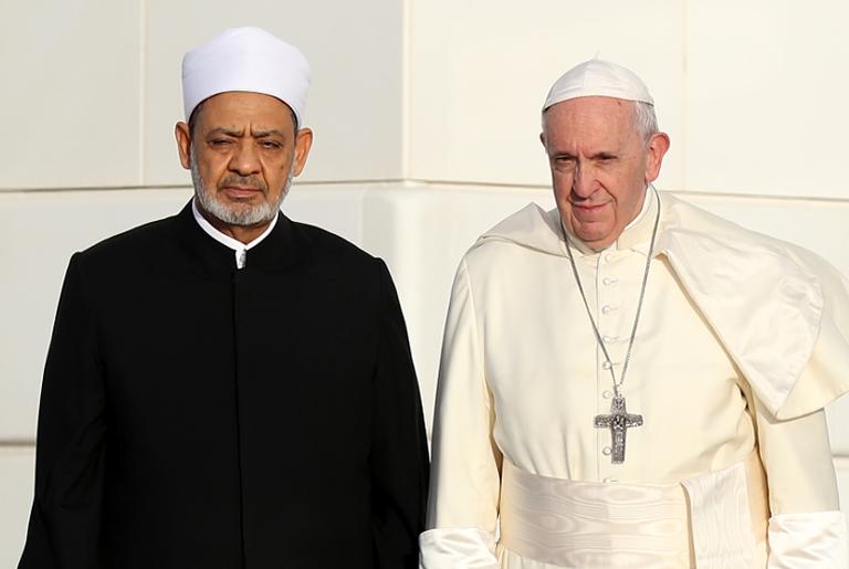Papa Francisco e Ahmad el-Tayeb, em Abu Dhabi