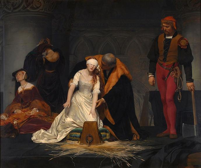 Pintura da execução de Jane Grey