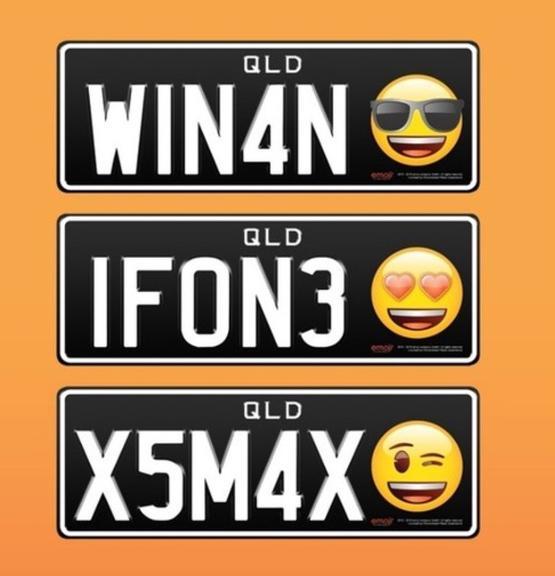 Exemplos das novas placas de Queensland